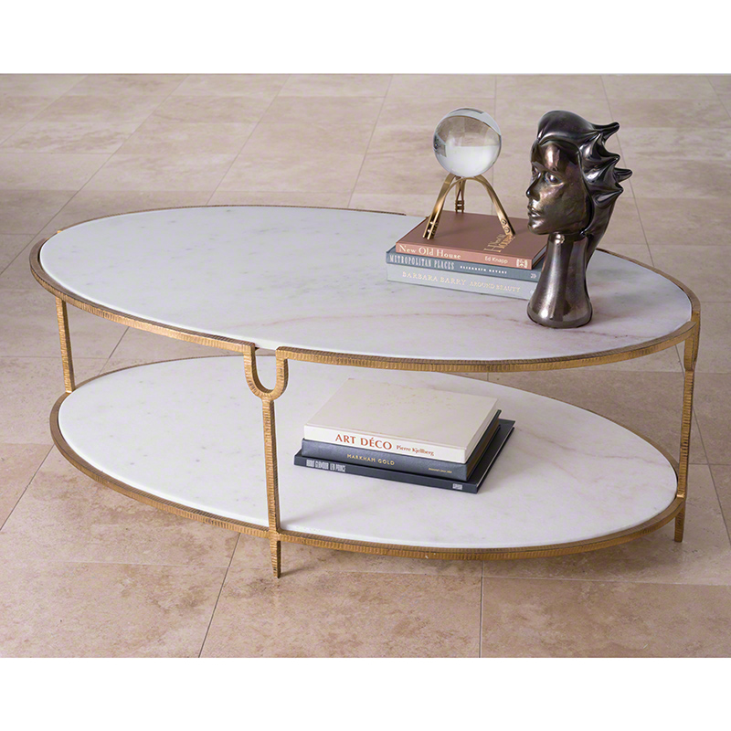 4fdd955bdcded Iron and Stone Coffee Table - Paysage