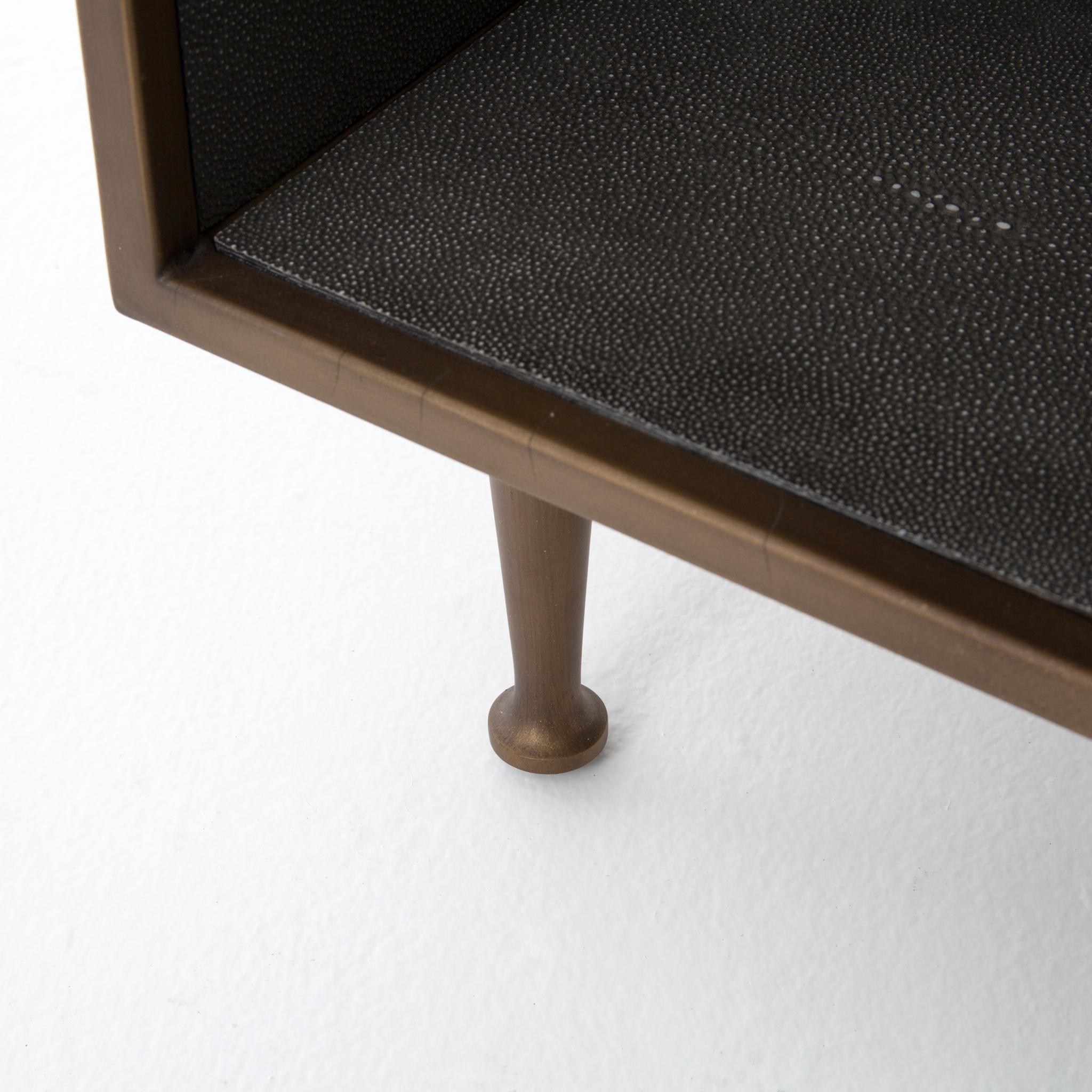 bc7d995e2990c Shagreen Bedside Table - Paysage